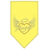 Mirage Pet Products Angel Heart Rhinestone Bandana Yellow Large