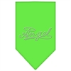 Mirage Pet Products Angel Rhinestone Bandana Lime Green Large
