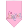 Mirage Pet Products Technicolor Angel Rhinestone Pet Bandana Light Pink Size Large