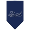 Mirage Pet Products Angel Rhinestone Bandana Navy Blue large