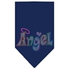 Mirage Pet Products Technicolor Angel Rhinestone Pet Bandana Navy Size Large