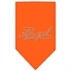 Mirage Pet Products Angel Rhinestone Bandana Orange Large