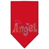Mirage Pet Products Technicolor Angel Rhinestone Pet Bandana Red Size Large