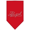Mirage Pet Products Angel Rhinestone Bandana Red Large