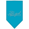 Mirage Pet Products Angel Rhinestone Bandana Turquoise Small