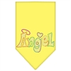 Mirage Pet Products Technicolor Angel Rhinestone Pet Bandana Yellow Size Large