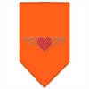 Mirage Pet Products Aviator Rhinestone Bandana Orange Large