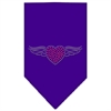 Mirage Pet Products Aviator Rhinestone Bandana Purple Small