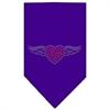 Mirage Pet Products Aviator Rhinestone Bandana Purple Large