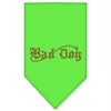 Mirage Pet Products Bad Dog Rhinestone Bandana Lime Green Small