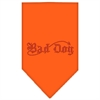 Mirage Pet Products Bad Dog Rhinestone Bandana Orange Large
