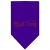 Mirage Pet Products Bad Dog Rhinestone Bandana Purple Large