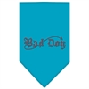 Mirage Pet Products Bad Dog Rhinestone Bandana Turquoise Small