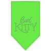 Mirage Pet Products Bad Kitty Rhinestone Bandana Lime Green Small
