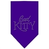 Mirage Pet Products Bad Kitty Rhinestone Bandana Purple Small