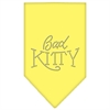 Mirage Pet Products Bad Kitty Rhinestone Bandana Yellow Large