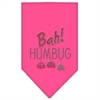 Mirage Pet Products Bah Humbug Rhinestone Bandana Bright Pink Small