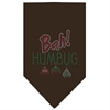 Mirage Pet Products Bah Humbug Rhinestone Bandana Brown Small