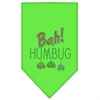 Mirage Pet Products Bah Humbug Rhinestone Bandana Lime Green Large