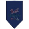 Mirage Pet Products Bah Humbug Rhinestone Bandana Navy Blue large