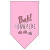 Mirage Pet Products Bah Humbug Rhinestone Bandana Light Pink Small