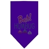Mirage Pet Products Bah Humbug Rhinestone Bandana Purple Small