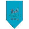 Mirage Pet Products Bah Humbug Rhinestone Bandana Turquoise Large