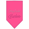 Mirage Pet Products Step Aside Barbie Rhinestone Bandana Bright Pink Large