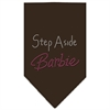 Mirage Pet Products Step Aside Barbie Rhinestone Bandana Cocoa Small