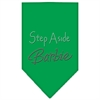 Mirage Pet Products Step Aside Barbie Rhinestone Bandana Emerald Green Large