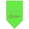 Mirage Pet Products Step Aside Barbie Rhinestone Bandana Lime Green Large