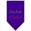 Mirage Pet Products Step Aside Barbie Rhinestone Bandana Purple Large