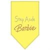 Mirage Pet Products Step Aside Barbie Rhinestone Bandana Yellow Small