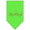 Mirage Pet Products Be Mine Rhinestone Bandana Lime Green Small