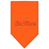 Mirage Pet Products Be Mine Rhinestone Bandana Orange Large
