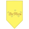Mirage Pet Products Be Mine Rhinestone Bandana Yellow Large