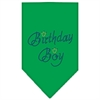 Mirage Pet Products Birthday Boy Rhinestone Bandana Emerald Green Large