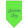 Mirage Pet Products Birthday Boy Rhinestone Bandana Lime Green Small