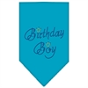 Mirage Pet Products Birthday Boy Rhinestone Bandana Turquoise Large