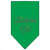Mirage Pet Products Birthday Girl Rhinestone Bandana Emerald Green Small