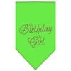Mirage Pet Products Birthday Girl Rhinestone Bandana Lime Green Large