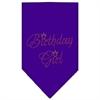 Mirage Pet Products Birthday Girl Rhinestone Bandana Purple Small