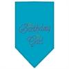 Mirage Pet Products Birthday Girl Rhinestone Bandana Turquoise Large