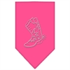 Mirage Pet Products Boot Rhinestone Bandana Bright Pink Small