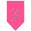 Mirage Pet Products Boot Rhinestone Bandana Bright Pink Small