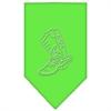 Mirage Pet Products Boot Rhinestone Bandana Lime Green Small