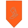 Mirage Pet Products Boot Rhinestone Bandana Orange Large