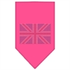 Mirage Pet Products British Flag Rhinestone Bandana Bright Pink Large