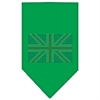 Mirage Pet Products British Flag Rhinestone Bandana Emerald Green Small