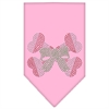 Mirage Pet Products Candy Cane Crossbones Rhinestone Bandana Light Pink Large